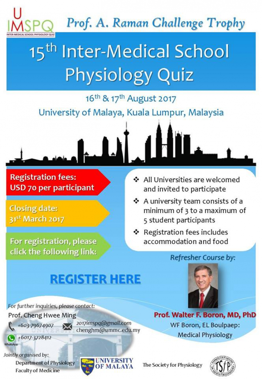 15th Inter-Medical School Physiology Quiz – Welcome to University of