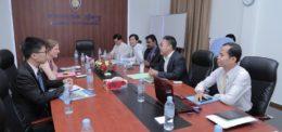 The visit of British Embassy to University of Puthsiastra