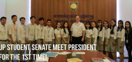 UP student senate meet president for the 1st time
