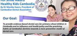 HEALTHY KIDS CAMBODIA RECEIVES INTERNATIONAL AWARD FOR ORAL HEALTH