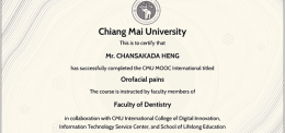 UP Dental Students Complete Online Course On Orofacial Pain at Chiang Mai University, Thailand