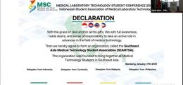 UP Medical Laboratory Students joined the Declaration of Southeast Asia Medical Technology Student Association