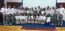 Bachelor of Science in Nursing (BSNY4) students from UP are presenting their Oral Thesis Defense